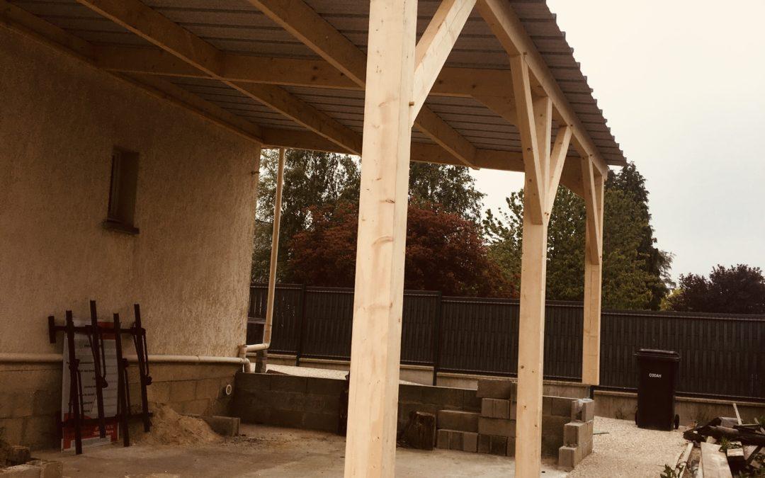 Création d'un Carport sur la commune de Saint Vigor d'Ymonville (76)