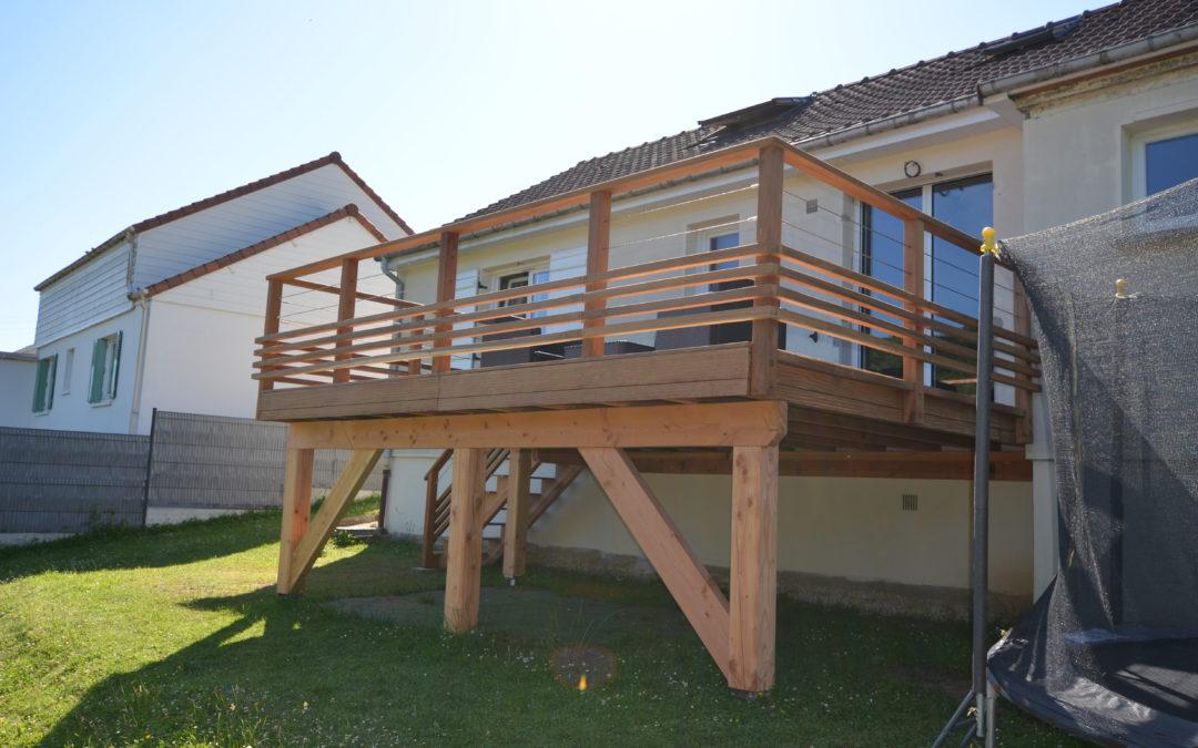 Création d'une terrasse sur pilotis à Harfleur (76)