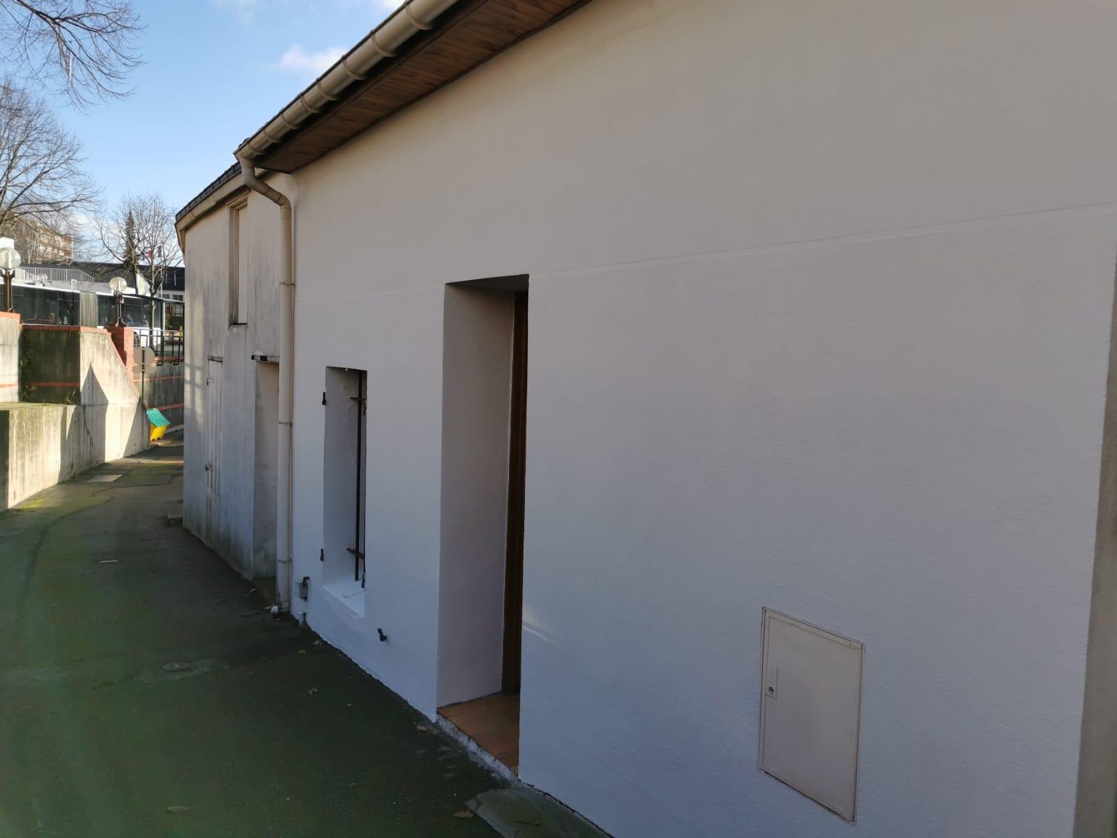 façade peinture beige
