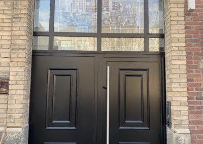 Installation d'une porte de hall sur Le Havre (76)