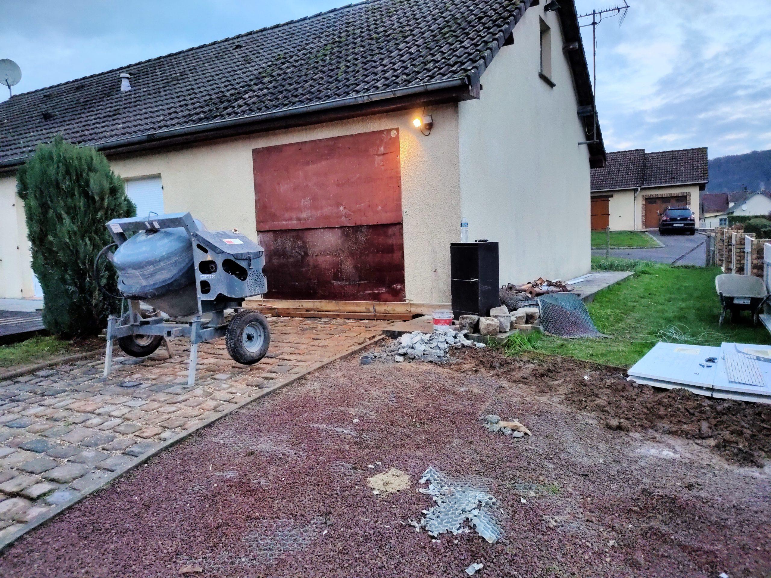 porte de garage déposée