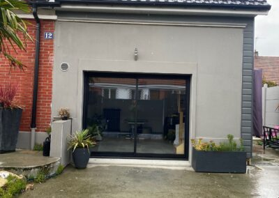 Transformation d'un garage en pièces de vie (76)